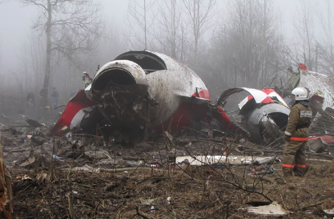 2010 Smolensk Crash Scene Photo.