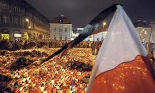Warsaw, Poland in the aftermath of the Smolensk Plane Crash.
