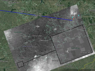 MH17 crash site satellite images falsified by Russians.