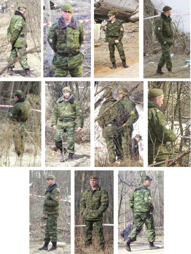 Russian Spetsnaz forces at the crash site of Polish President's Plane, April 10, 2010.