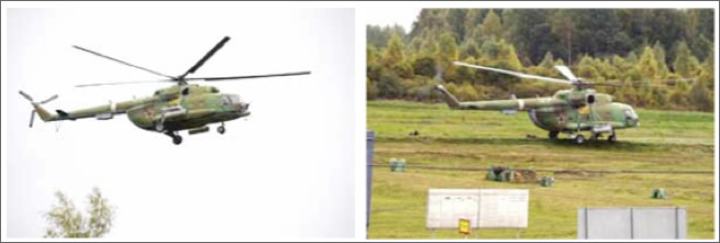 11:30 A.M., a Spetsnaz helicopter lands at the site of the crash.