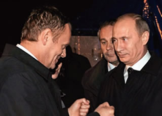 Polish Prime Minister Donald Tusk with Russia's Vladimir Putin in Smolensk (Crash Site of the Polish Air Force One, April 10, 2010).